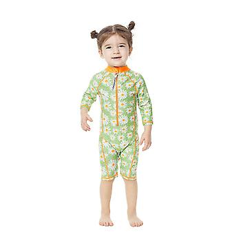 Bonverano Baby Girls UPF 50+ Sun Protection L/S Mangas Zip Swimsuit