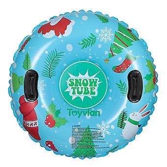 Inflatable 94cm round snow sled with handles for kids