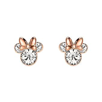 Disney Minnie Mouse Rose Gold Plated Stud Earrings