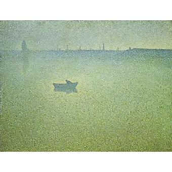 Seine at Dawn Poster Print by  Charles Angrand