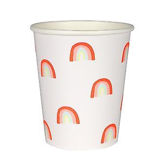 Meri Meri Neon Rainbow Cups x 12 Partyware