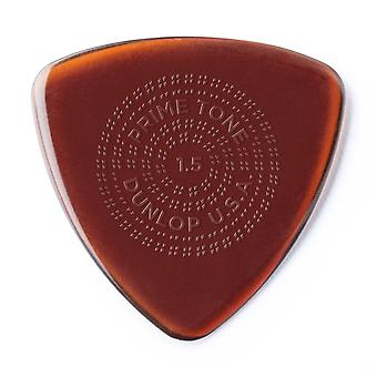 Dunlop 512p1.5 primetone® triangle sculpted plectra with grip, 1.5mm, 3/player's pack player pack 3