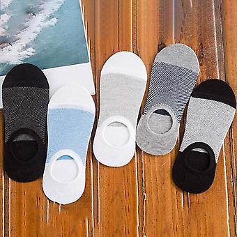 New Fashion Bamboo Fibre Non-slip Silicone Invisible Boat Compression Socks