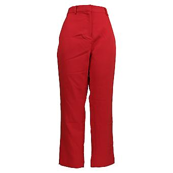 BROOKE SHIELDS Women's Pants Woven Ankle Length Red A342011