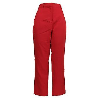 بروك SHIELDS المرأة & ق السراويل المنسوجة طول الكاحل الأحمر A342011