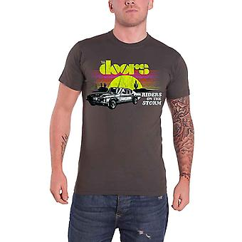 The Doors  T Shirt Riders On The Storm Distressed Official Mens new Grey
