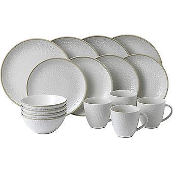 Royal Doulton Gordon Ramsay Maze Grill 40034497 16 Pc Dinnerware Set White
