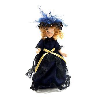 Puppen Haus viktorianischen jungen Dame Mädchen Miniatur Menschen Porzellan Bl
