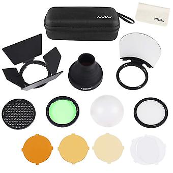 Accessori Godox ak-r1, filtro colore, kit dome diffusore con magnetico per godox v1 fotocamera flash god