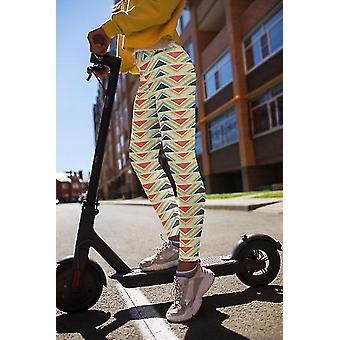 Hoge taille abstracte leggings