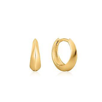 Ania Haie Shiny Gold Single Spike Huggie Hoop Earrings E025-05G