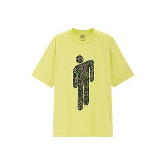 Billie Eilish Flower Skulls T-Shirt Green - Clothing
