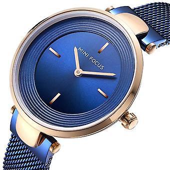MINI FOCUS MF0195L Unique Dial Display Ladies Wrist Watch Casual Full Steel Qua
