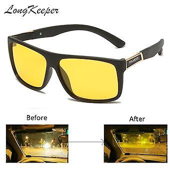 Night Vision Ochelari Polarized Anti-glare Lens Ochelari de soare Bărbați Ochelari de protecție (negru