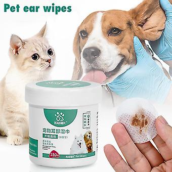 120pcs Pet Dog Cleaning Pads Facial Paper Towels Pet Eye Wet Wipes