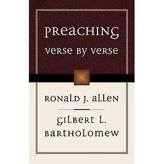 Preaching Verse di Verse di Ronald J. Allen - Gilbert L. Bartholemew