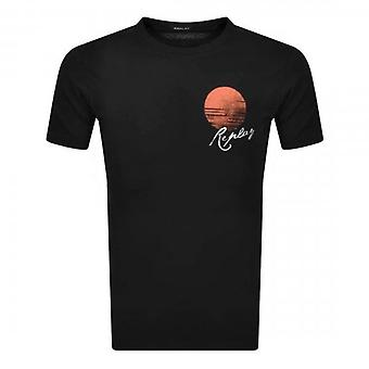 Toista logo Tulosta Vintage Style T-paita Musta M3386