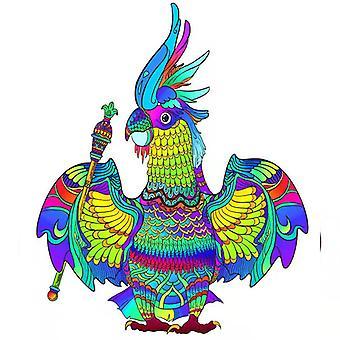 Children's parrot wooden puzzle toy A5
