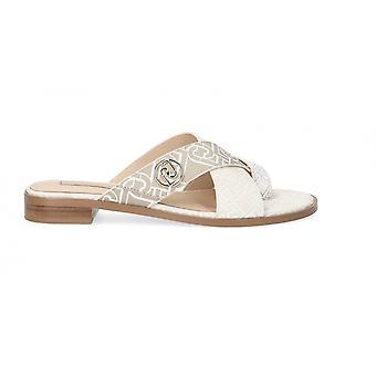 Women's Shoes Sandalwood Liu-jo Erin 6 White/ Milk Ds21lj24 Sa1045