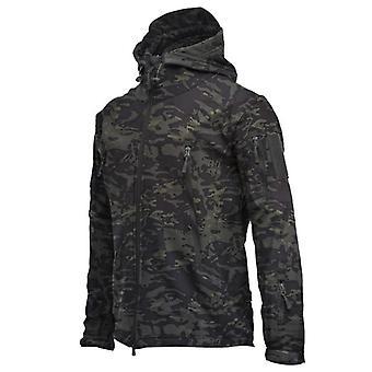 Soft Shell Shark Skin Fleece Lining Coat, Waterproof Hooded Jackets