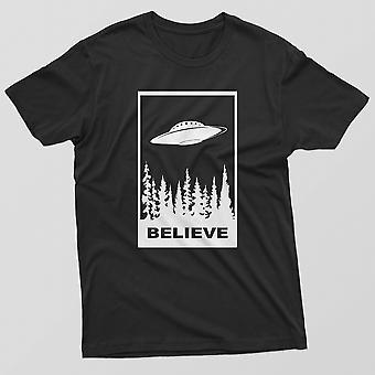 Menn ' s jeg ønsker å tro t-skjorte