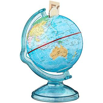 Wokex 10021013 Spardose Globus HxBxT: 16,5 x 14 x 14 cm, politische Weltkarte, englische