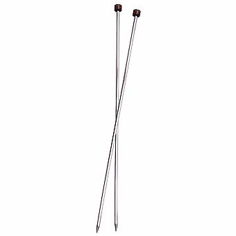 KnitPro Nova Kubikk: Strikkepinner: Enkeltslutt: 30cm x 6.50mm