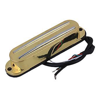 Gold Electric Kitara Dual Kela Kisko Magneettinen Humbucker Pickup 4 Johdot