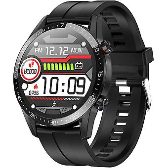 Умные часы для унисекс спорт с трекером активности IP68 Водонепроницаемый для Android iOS-Black1