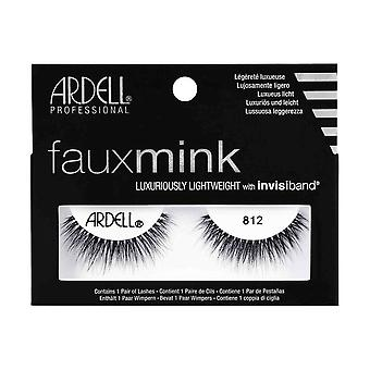 Ardell Faux Mink 812 Eye Lashes Lightweight Invisiband Full Lash Look