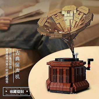 Retro Phonograph DIY Modell Bausteine Ziegel