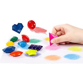 9-fargers barn's fargestift diamant modellering student fargemaling fargestift sett student kunst trygt og giftfritt