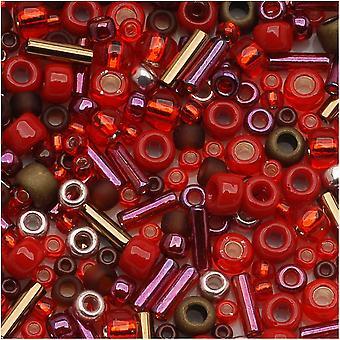 Toho valikoima lasiset nastat 'Samurai' Punainen/Ruskea Mix 8g