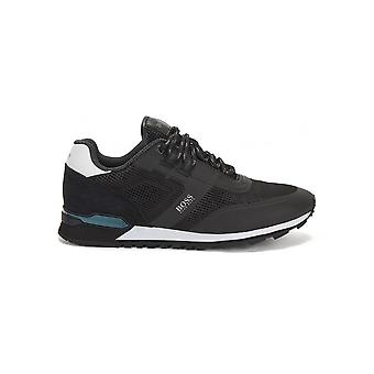 Hugo Boss Footwear Hugo Boss Men's Black Parkour Runn Me Trainers