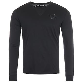 True Religion Stones Horseshoe Logo Long Sleeve T-Shirt - Black