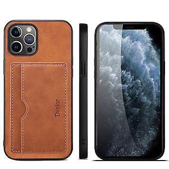Slot per carte custodia in pelle portafoglio per iphone 7p/8p/se 2020 marrone pc929