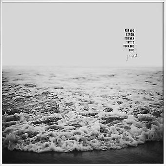 JUNIQE Print - Tide x Johnny Cash - Love Quotes Poster in Grey