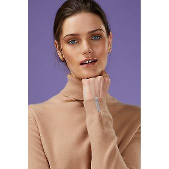 Loop Cashmere Polo Neck Sweater In Toffee