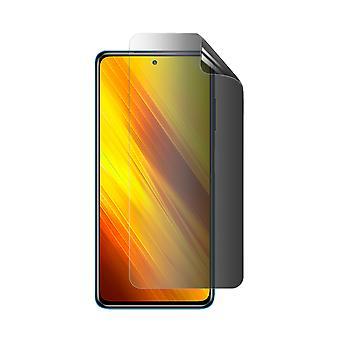 Celicious Privacy 2-Way Anti-Spy Filter Screen Protector Film Compatible with Xiaomi Poco X3