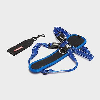 New EZY-DOG Chest Plate Harness Blue