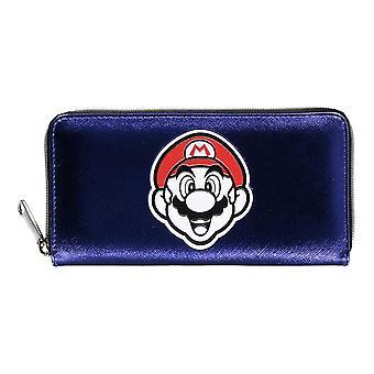 Nintendo - Mario Face Summer Olympics All-Over Print Kukkaro Lompakko - Violetti