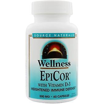Source Naturals Epicor with Vitamin D-3 500 mg, 60 caps