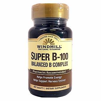 Windmill Health Vitamin B Complex Super, 60 Tabs