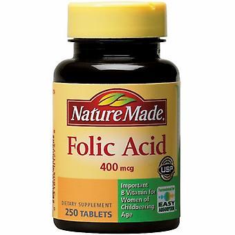 Nature Made Folic Acid, 400 mcg, 250 Tabs
