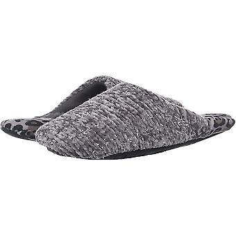 Dearfoams Women's Chenille Rib Knit Scuff with Velour Heel Slipper, Excalibur, XL Regular US