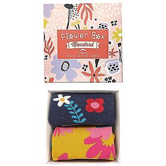 Moustard London Flower Box Sokker Gaveæske til kvinder