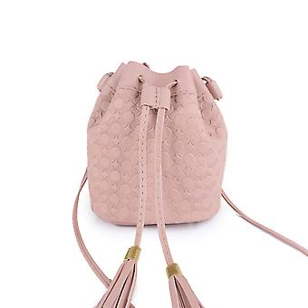 Bucket Bag With Relief,square Bag/bucket,color: Black,pink,brown,size: Small, Material: Pu,15*11*17cm