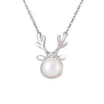Women Necklace Elk S925 Freshwater Pearl Bracelet For Ceremony