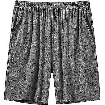 Mens Sleeping Stretch Boxer Pantaloni scurți Ultra-moale Modal Lounge Pijama Bottoms cu buzunare (L)