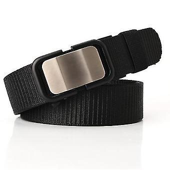 Nuova cintura in nylon con fibbia automatica, cintura da uomo, pantaloni casual e versatili, trendy e